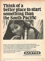 1967 Original Advertising' Vintage Qantas Airlines Australia South Pacific