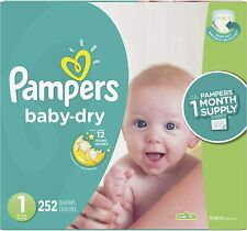Pampers Baby Dry Diapers Mega Pack (Choose Size)