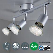 LED Deckenleuchte Wohnzimmer GU10 Spot-Leuchte Decken-Lampe Büro 3-flammig Küche