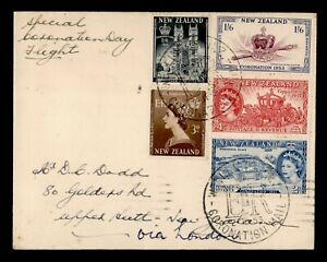 DR WHO 1953 NEW ZEALAND QE II CORONATION SPECIAL FLIGHT C189400