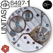 MOVEMENT UNITAS ETA 6497-1, ELABORE COTE DE GENEVE, SMALL SEC. 9H, NEW IN BOX!