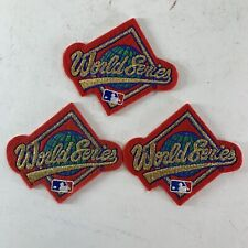 (3) Vintage 1990s MLB Baseball World Series Patch Lot Red Gold Unused