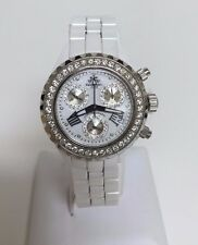 JPM Techno White Ceramic Diamond Ladies Watch 2.25ct