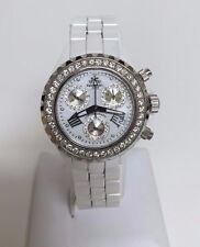 JPM Techno White Ceramic Diamond Ladies Watch 2.25ct