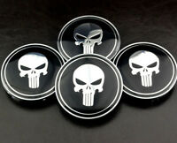 4× 68mm/ 65mm Skull Wheel Centre Caps Emblem For E87 E88 E46 E36 E90 E91 E93