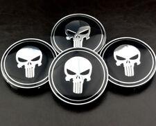 4× 68mm/ 65mm Skull Wheel Centre Caps Emblem For E87 E88 E46 E36 E90 E91 E93