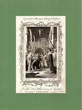 Samuel Wale-Anselm Fitz-Arthur reclami WILLIAM'S STAMPA-RARO in rame (1770)