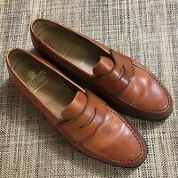 Crockett & Jones Harvard Penny Loafer Whiskey Brown Leather 11 B Made in England