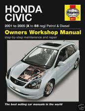 Manuales de reparación y servicios Civic Honda