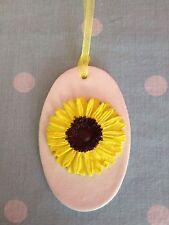 Hermoso Colgante Hecho a Mano Arcilla Sun Flower Tag/Decoración Regalo Nuevo