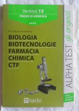 Libro Università Veritest 13 Biologia Biotecnolog Farmacia Chimica Ctf AlphaTest