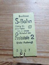 Alte Fahrkarte Berliner S Bahn Preisstufe 2