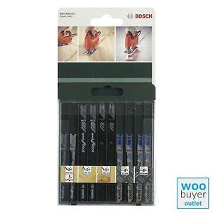 Bosch Jigsaw Blade Set (10 Pieces) for Metal & Wood 2609256776