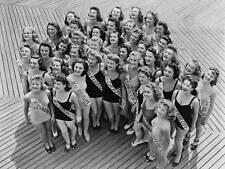 VINTAGE FOTO MISS AMERICA 1941 concorrenti New art print poster foto cc5323