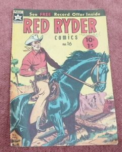VINTAGE PAGE COMIC RED RYDER NO 16