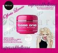 GEL BIANCO FRENCH 15g BASE ONE SILCARE W3 BIANCO EXTRA RICOSTRUZION UNGHIE