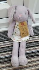 Next My Best Friend Grey Bunny Rabbit Toy Comforter Floral Dress BNWT soft NEW