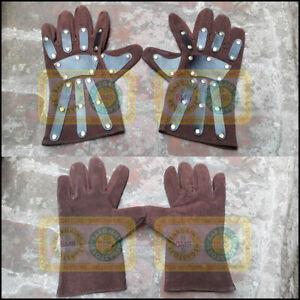 Medieval Roman Greek Masonic Norman Viking Pirate Style Larp Leather Hand Gloves