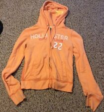 Hollister Orange Sweatshirt Jacket, Juniors Size M