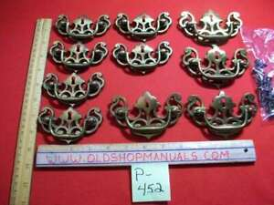 RECLAIMED VINTAGE KEELER BRASS CO. COLONIAL KEYHOLE STYLE DRAWER PULLS/HANDLES