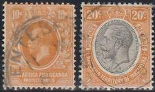 East Africa & Uganda 1912 & Territory of Tanganyika 1927 KGV (2 Used) pd4