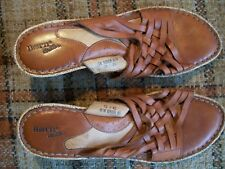 """Born Womens 10/42 M/W Drilles Brown Woven Wedge (3.5"""") Sandals W8005"""