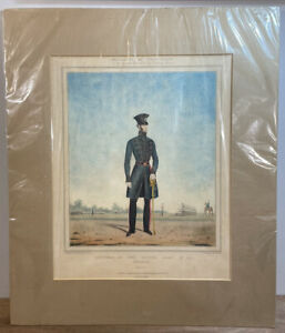 Antique Print Officers Of The British Army No.41 Coldstream Guards, c 1830