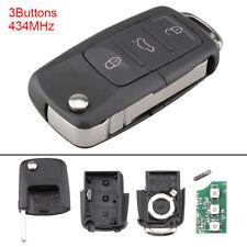 Remote Flip Key Fob Transmitter fit for VW Volkswagen Golf Jetta Passat Beetle