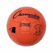 Champion Sports Extreme Soft Touch Butyl Bladder Soccer Ball, Size 4, Orange