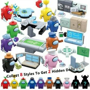 Kid Toys Among Us Hot Game Model 8 Set /Lot Building Blocks Space Alien Figures