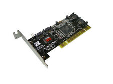 Carte Controleur PCI SATA // 4 PORTS // RAID 0,  1,0+1 - LOW PROFILE