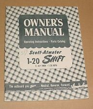 Scott-Atwater Owners Manual 1-29 Shift 7 1/2HP Twin