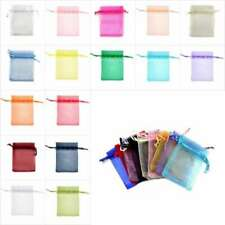 50/100/200/500 Small Organza Bag 7x9cm/9x12cm Wedding Packing Gift Jewelry Pouch
