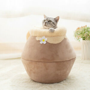Jar Shaped Foldable Cat Nesting Bed Sleeping Bag Free shipping (M72)