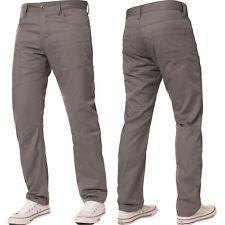 New ENZO Mens Straight Leg Jeans Regular Fit Denim Pants Coloured All Waist Size