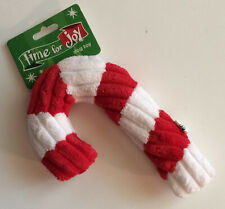 """Petco Holiday Christmas Time for Joy 6"""" Candy Cane Dog Toy - Squeaker  - New"""