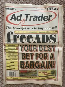 Yorkshire Ad Trader- Known As Free Ads paper/selling mart 14 - 20 September 2001