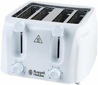 RUSSELL HOBBS ESSENTIALS 4 SLICE TOASTER WHITE 21860