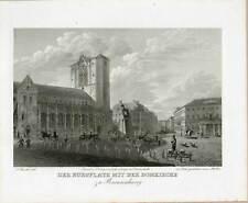 Braunschweig - Burgplatz - Domkirche - Stahlstich 1843
