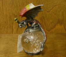 DRAGON Pewter figurine on Glass Ball from Welforth #RF424, NEW from Retail Store