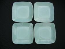 FOUR VINTAGE JADEITE FIRE KING CHARM LUNCHEON PLATES IN NEAR MINT CONDITION