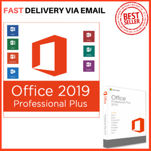 MS Office Pro Plus 2019 - Genuine License 1 PC Install