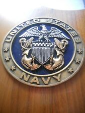 US Navy Silver Logo Solid Wooden wall panel armor holder