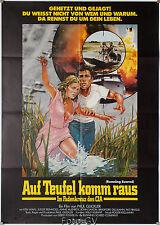 Auf Teufel komm raus|Running Scared Ken Wahl John Saxon Orig.Kinoplakat Lager.S