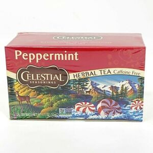 Celestial Seasonings Peppermint Mint Herbal Tea 20 Count Caffeine & Gluten Free