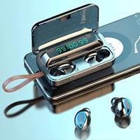 Drahtlose Ohrhörer Sport HiFi Stereo Kopfhörer TWS Bluetooth 5.0 In-Ear Headset