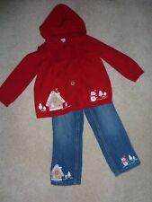 Gymboree Cozy Cutie Gingerbread House Snowman Sweater Hoodie Jeans 2T 3T