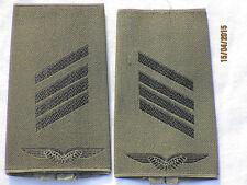 Bw-Rangschlaufen:Stabsgefreiter ,Luftwaffe,oliv/schwarz