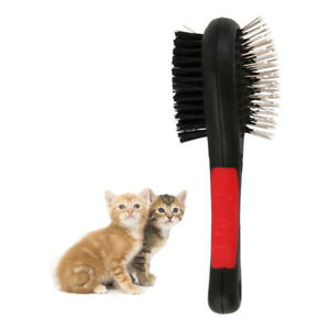 Pet Hair Brush Double-sided Self Cleaning Dog Puppy Cat Kitten Comb Grooming JP