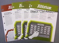 Lot of 4 Tillotson Dealer Sell Sheets Jet Kit & Repair Parts Cabinets DS-1-2-3